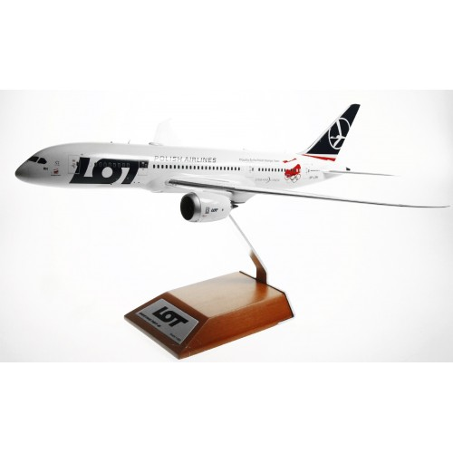 JC2081 - 1/200 LOT POLISH AIRLINES 787-8 DREAMLINER PROUD TO FLY THE POLISH OLYMPIC TEAM SP-LRH WITH STAND LIMITED