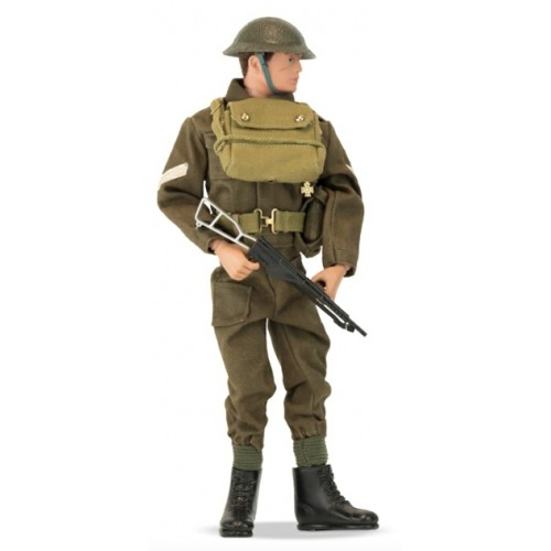 AMAN716 - ACTION MAN - BRITISH INFANTRYMAN WINDOW BOX PACKAGING WITH DIORAMA LIMITED EDITION 2500 PIECES
