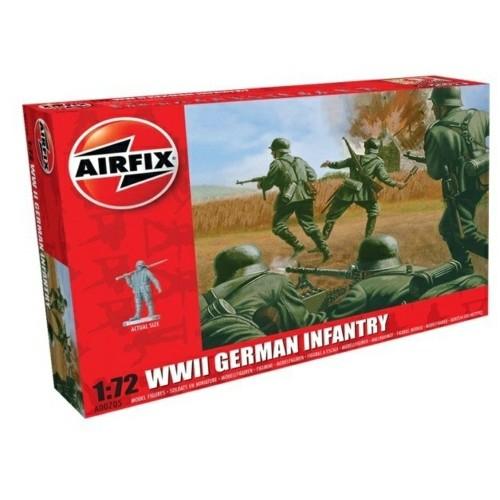 AX00705 - 1/72 WWII GERMAN INFANTRY (PLASTIC KIT)