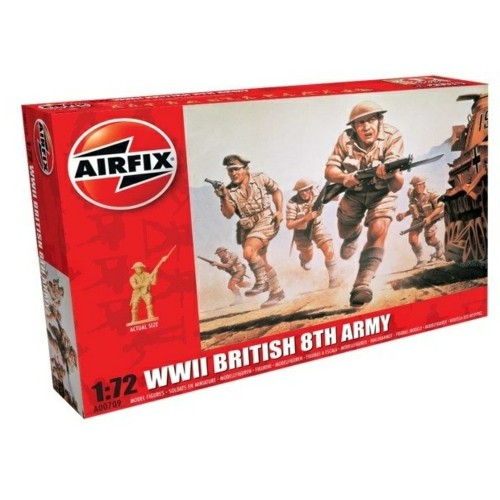 AX00709 - 1/72 WWII BRITISH 8TH ARMY (PLASTIC KIT)