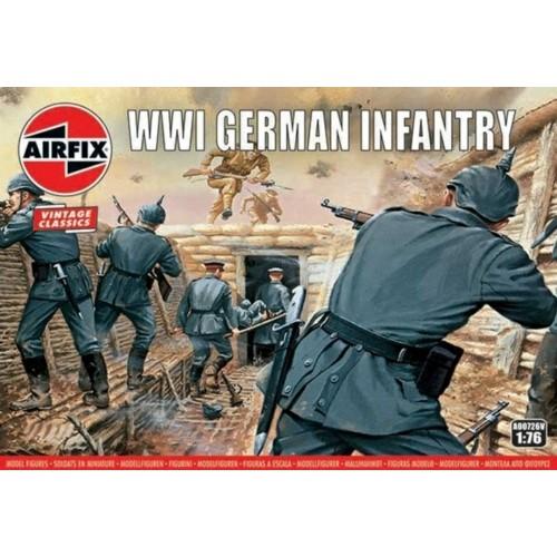 AX00726V - 1/76 WW1 GERMAN INFANTRY (VINTAGE CLASSICS) (PLASTIC KIT)