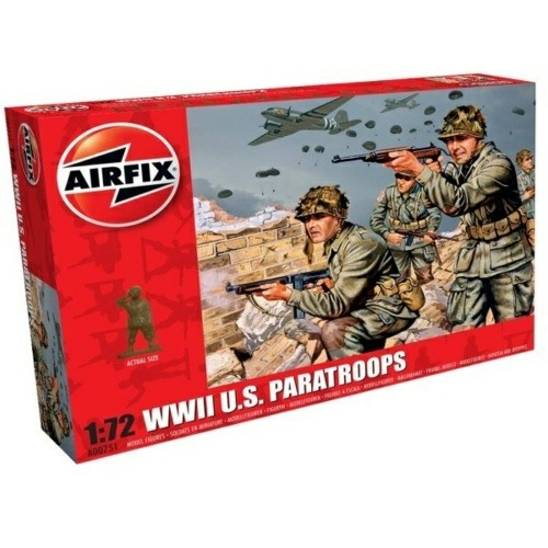 AX00751 - 1/72 WWII US PARATROOPS (PLASTIC KIT)