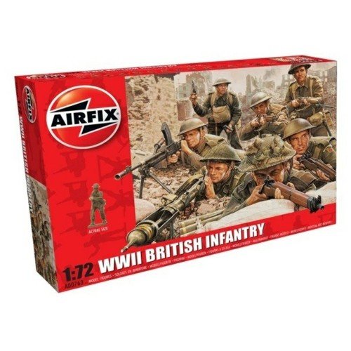 AX00763 - 1/72 WWII BRITISH INFANTRY N. EUROPE (PLASTIC KIT)
