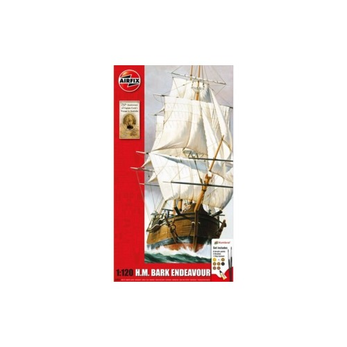 AX50047 - 1/120 ENDEAVOUR BARK AND CAPTAIN COOK 250TH ANNIVERSARY (PLASTIC KIT)