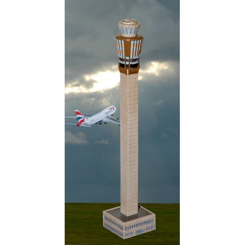 FCAAL002 - 1/400 AUTHENTIC AIRPORT CONTROL TOWER - 28CM HIGH 7CM AT BASE