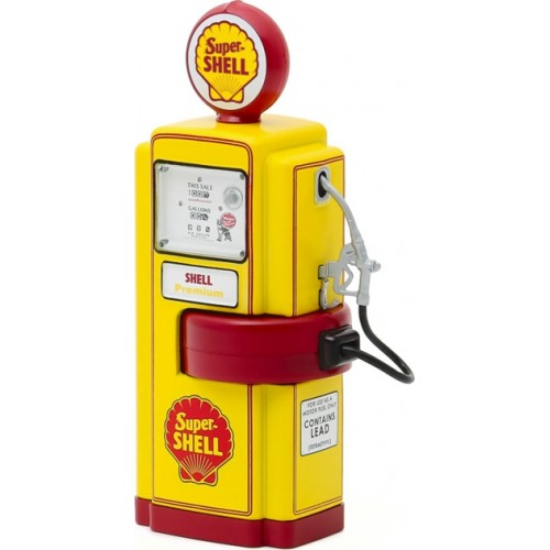 GL14080-A - 1/18 VINTAGE GAS PUMPS SERIES 8 - 1948 WAYNE 100-A GAS PUMP SUPER SHELL SOLID PACK