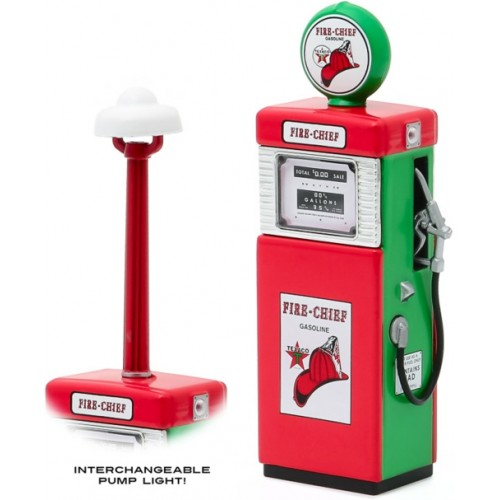 GL14080-B - 1/18 VINTAGE GAS PUMPS SERIES 8 - 1951 WAYNE 505 GAS PUMP TEXACO FIRE-CHIEF GASOLINE WITH PUMP LIGHT SOLID PACK