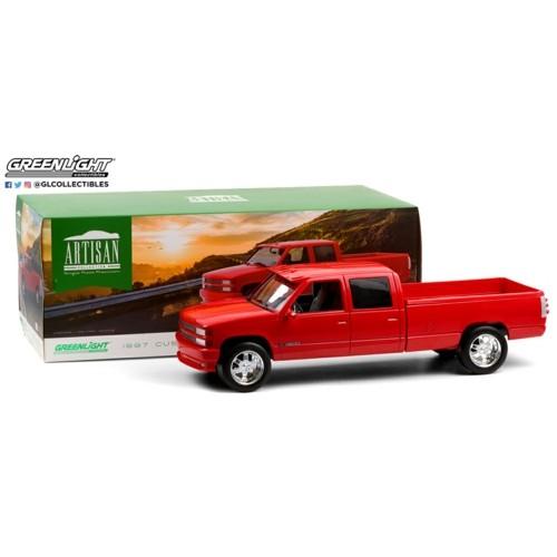 GL19073 - 1/18 ARTISAN COLLECTION - 1997 CHEVROLET 3500 CREW CAB SILVERADO - VICTORY RED