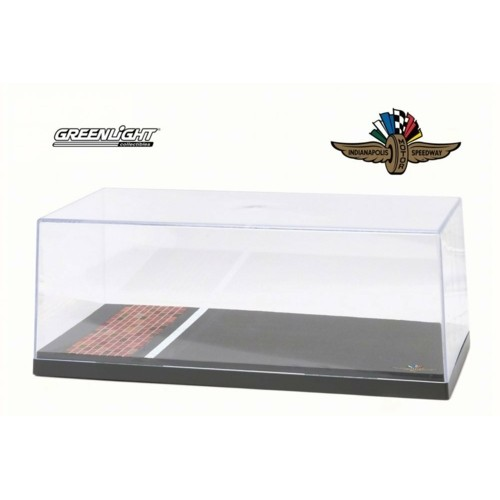 GL55021 - 1/18 ACRYLIC CASE WITH PLASTIC BASE - INDIANAPOLIS MOTOR SPEEDWAY YARD OF BRICKS SPECIAL EDITION