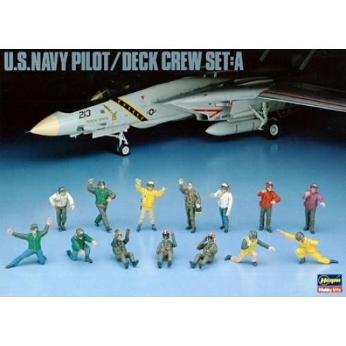 HASHAX486 - 1/48 U.S.NAVY PILOT DECK CREW SET A (PLASTIC KIT)