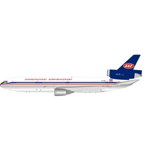 IFDC100318AP - 1/200 JAT - YUGOSLAV AIRLINES DC-10-30 YU-AMA POLISHED WITH STAND