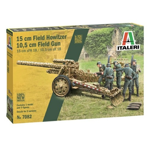 IT7082 - 1/72 15CM FIELD HOWITZER 10.5CM GUN (PLASTIC KIT)