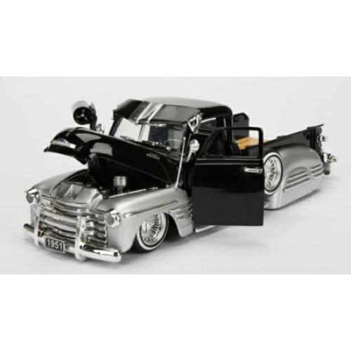JAD97229BK - 1/24 1951 CHEVROLET 3100 PICK UP CUSTOM SHOP BLACK/SILVER