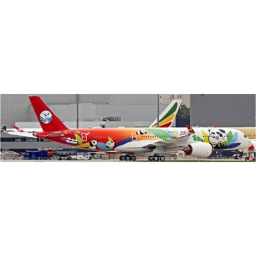 JCLH2116A - 1/200 SICHUAN AIRLINES A350-900 PANDA LIVERY FLAP DOWN WITH STAND