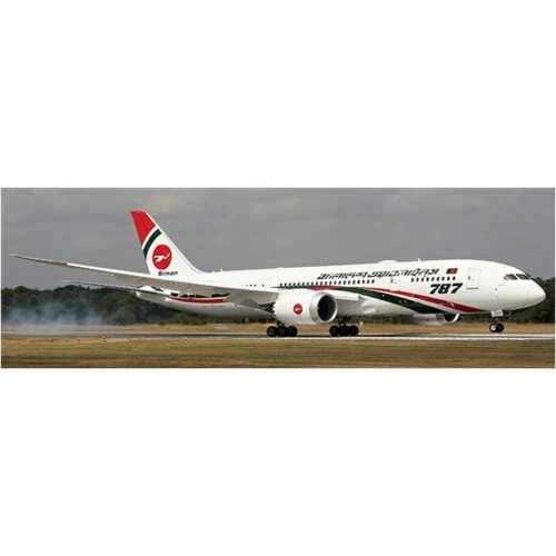 JCLH4125A - 1/400 BIMAN BANGLADESH AIRLINES BOEING 787-8 DREAMLINER REG: S2-AJS FLAP DOWN WITH ANTENNA