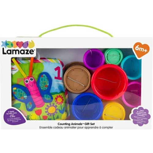 LC27872 - COUNTING ANIMALS BOOK AND STACKING CUPS GIFT SET