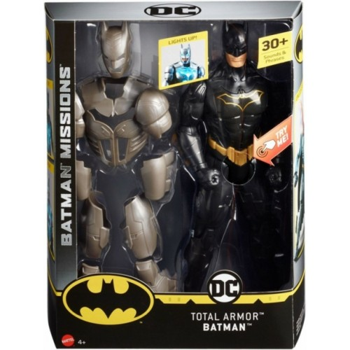 MATFVM64 - X3 BATMAN MISSIONS 12 INCH LIGHTS AND SOUNDS BATMAN ARMOUR
