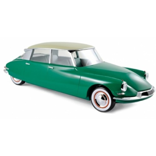 NV121560 - 1/12 CITROEN DS 19 1956 - GREEN AND CHAMPAGNE