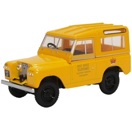 OX43LR2S004 - 1/43 LAND ROVER SERIES II SWB HARD TOP POST OFFICE TELEPHONES (YELLOW)