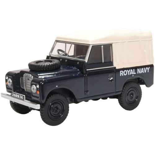 OX43LR3S004 - 1/43 LAND ROVER SERIES III SWB CANVAS ROYAL NAVY