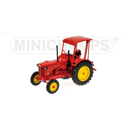 P109153071 - 1/18 HANOMAG R35 - FARM TRACTOR WITH ROOF 1955 RED