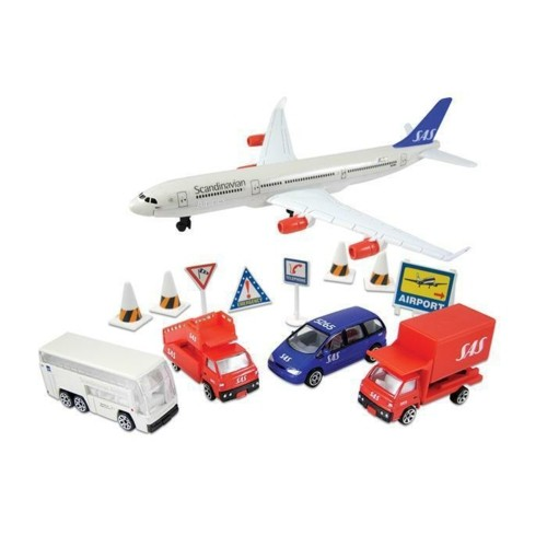 PPSAS6261 - SCANDINAVIAN AIR (SAS) 13 PIECE AIRPORT PLAYSET
