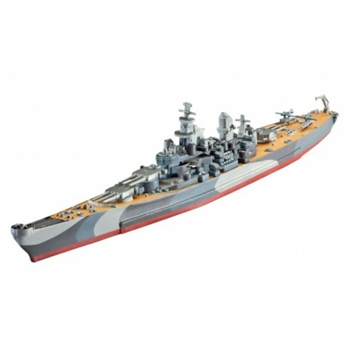 R65128 - 1/1200 MODEL SET - BATTLESHIP U.S.S. MISSOURI (WWII) (PLASTIC KIT)