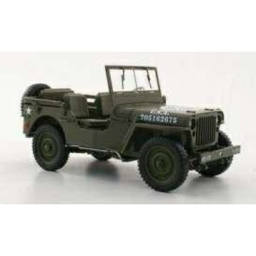 T9-1800141 - 1/18 1942 JEEP WILLYS US ARMY GREEN