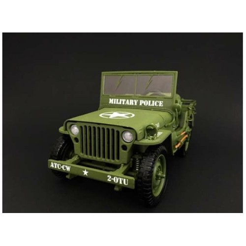 T9-1800142 - 1/18 1941 JEEP WILLYS MILITARY POLICE GREEN