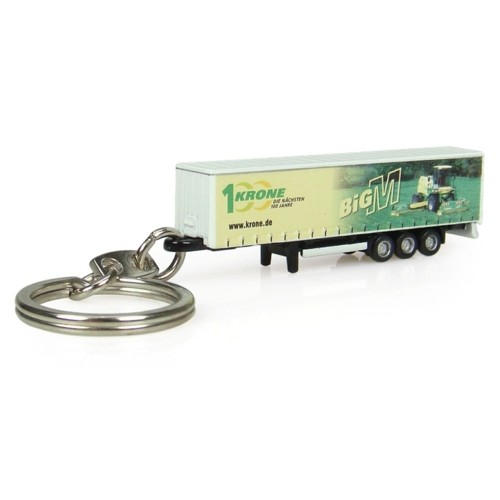 UH5528 - KRONE TRAILER W/BIG M DECORATION KEYRING
