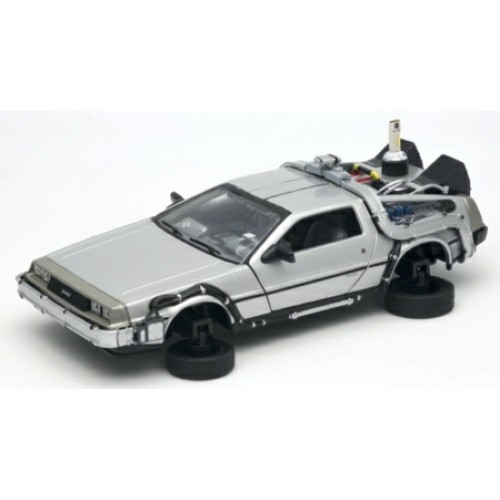 W22441F - 1/24 BACK TO THE FUTURE II DELOREAN FLYING WHEEL VERSION